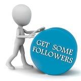 Consiga algunos seguidores stock de ilustración