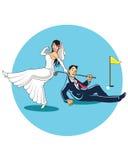 Consiga casado con el golfista libre illustration