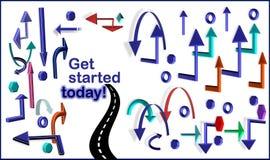 Consiga comenzado hoy ilustración del vector