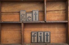 Consiga el ajuste foto de archivo libre de regalías