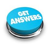 Consiga el botón de las respuestas Imagenes de archivo