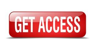 consiga el botón del acceso stock de ilustración