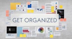 Consiga el concepto organizado de la estrategia de gestión ilustración del vector