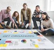 Consiga el concepto organizado del planeamiento de la gestión fotografía de archivo