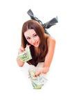 Consiga el dinero Imágenes de archivo libres de regalías