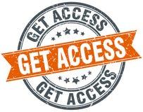 Consiga el sello del acceso ilustración del vector