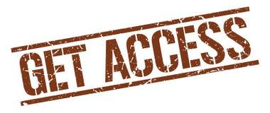 Consiga el sello del acceso stock de ilustración