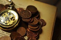 Consiga el tiempo consiguen el dinero Fotografía de archivo libre de regalías