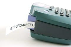 Consiga la escritura de la etiqueta ordenada Foto de archivo