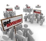 Consiga a la gente implicada participan grupo Mee de la interacción del compromiso Foto de archivo libre de regalías