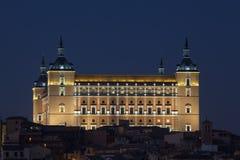 Consiga la obscuridad en el Alcazar de Toledo imagen de archivo libre de regalías