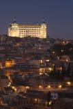 Consiga la obscuridad en el Alcazar de Toledo imágenes de archivo libres de regalías