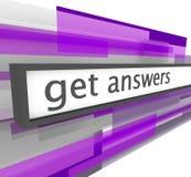 Consiga las respuestas - barra del Web site
