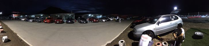 Consiga listo para Autocross Imagen de archivo libre de regalías