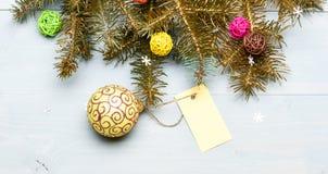 Consiga listo para la Navidad Opinión de top de madera del fondo de las decoraciones de la Navidad Todo que usted necesita adorna imagen de archivo