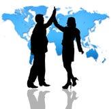 Consiga o sucesso através do mundo do negócio Fotografia de Stock Royalty Free