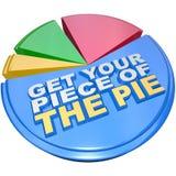 Consiga su pedazo de la abundancia de medición del gráfico de sectores Fotografía de archivo libre de regalías