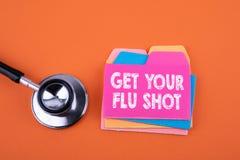 Consiga su vacuna contra la gripe, concepto de la salud fotos de archivo libres de regalías