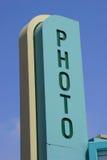 Consiga sus fotos aquí Foto de archivo