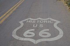 Consiga sus retrocesos en la ruta 66 foto de archivo