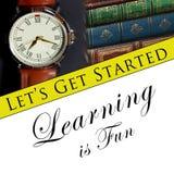 El aprendizaje es diversión Imagen de archivo libre de regalías