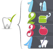 Consigli sani dei denti illustrazione vettoriale