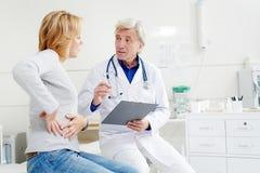 Consiglio al paziente immagini stock libere da diritti