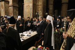 Consiglio di unità delle chiese ortodosse ucraine fotografia stock libera da diritti