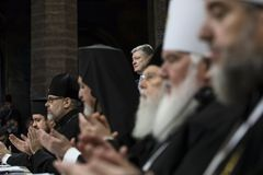 Consiglio di unità delle chiese ortodosse ucraine fotografie stock libere da diritti