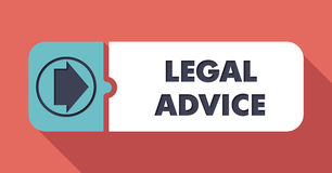 Consiglio legale su color scarlatto nella progettazione piana illustrazione vettoriale