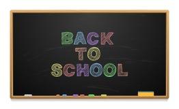 Consiglio scolastico con testo scritto in gesso illustrazione di stock