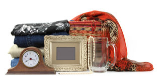 Consignment Store. Variety of no longer used items for sale Royalty Free Stock Image