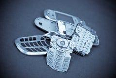 Consiguiendo su teléfono celular fijado Imagenes de archivo
