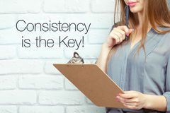 Consistency is the key! Royalty Free Stock Photography