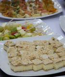 A consistent appetizer. A special, light and consistent appetizer for a special figure royalty free stock photography