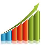 Consistent Growth Chart Royalty Free Stock Photography