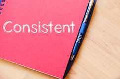 Consistent write on notebook royalty free stock image