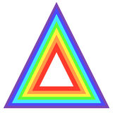 Consister de triangle d'arc-en-ciel illustration de vecteur