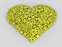 Consistindo mais o coração, amarelo mais o coração Fotos de Stock