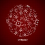 Consisting of snowflakes. Vector round consisting of snowflakes on dark blue background Royalty Free Stock Photos