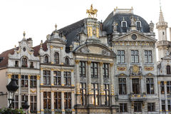 Consistorios en Grand Place, Bruselas, Bélgica Foto de archivo libre de regalías