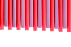 Consists  plastic ridge On a white background Royalty Free Stock Photo