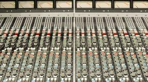 Consola audio Imagen de archivo libre de regalías