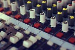 Consola audio Foto de archivo libre de regalías