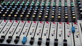 Consola audio de la producción metrajes
