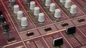 Consola audio de la producción almacen de metraje de vídeo