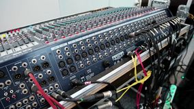 Consola audio de la producción almacen de video