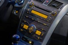 Consola central del coche foto de archivo