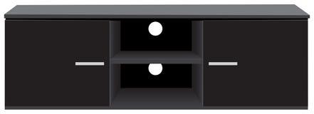 Consola de almacenamiento del soporte de la TV stock de ilustración