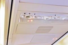 Consola de arriba del aeroplano foto de archivo libre de regalías
